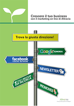 Brochure Altravia di introduzione al marketing online